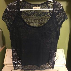 Women's lace hollister top